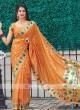 Classic Saree In Orange Color
