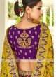 Purple & Yellow Silk Lehenga Choli