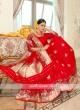 Red Banarasi Silk Saree