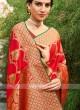 Silk Saree In Red Color