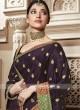 Tamannaah Bhatia Art Silk Saree in Dark Purple