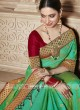 Tamannaah Bhatia in Green Embroidered Saree