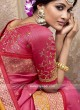 Pink Silk Wedding Saree