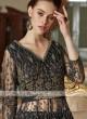 Elegant black color net salwar suit