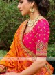 Silk Lehenga Choli In Rani  And Orange