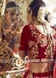 Bridal Velvet Shaded Lehenga Choli