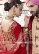 Heavy Embroidered Red Bridal Lehenga