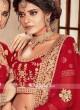 Heavy Embroidered Bridal Red Lehenga