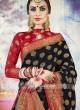 Black Banarasi Silk Saree with Border