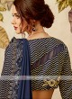 navy blue lycra saree