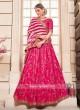 Deep Pink Silk Lehenga Choli