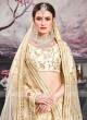 Designer Wedding Lehenga in Off White