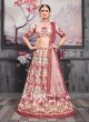 Silk Lehenga Choli in Light Pink