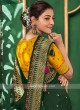 Art Silk Bottle Green Saree