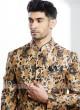 Attractive Cream Color Jodhpuri Suit