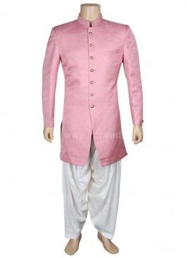 Designer Mens Pink Patuala Suit