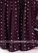 Crepe Silk Wine Gharara Suit