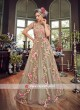 Floral Embroidered Net Semi Stitched Suit