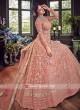 Semi Stitched Pink Net Salwar Suit
