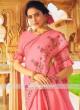 Pink Art Silk Saree with Blouse