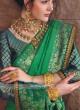 Banarasi Silk Saree In Sea Green