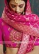 Giselli Monteiro Pink Brocade Lehenga with Dupatta