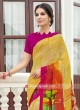 Printed Casual Saree with Plain Blouse