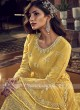 Yellow Color Net Dress Material