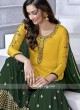 Yellow Faux Georgette Gharara Suit