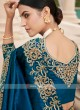 Dark Blue Cutwork Saree