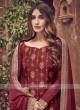 Beautiful Silk Maroon Dress Material