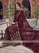 Maroon Silk Dress Material