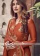 Silk Rust Color Dress Material