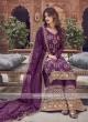 Magenta Color Dress Material