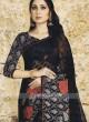 Printed chiffon Brasso Saree In Black