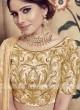 Graceful Beige Lehenga Choli for Wedding