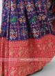 Patola Work Blue Silk Saree