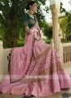 Light Pink and Sea Green Heavy Lehenga Set