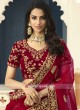 Velvet Bridal Lehenga Choli with Dupatta
