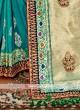Sea Green Color Banarasi Silk Saree