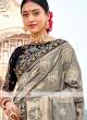 Grey Color Banarasi Silk Saree