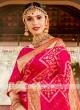 Deep Pink Color Banasari Silk Saree