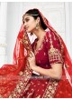 Bridal Embroidered Lehenga Choli in Maroon
