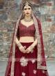 Maroon Bridal Lehenga Choli