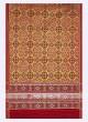 Yellow And Red Patola Print Saree