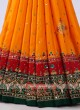 Stunning Orange & Green Saree