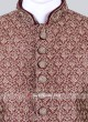 Silk Maroon Color Sherwani