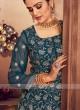 Attractive Peacock Blue Color Gharara Suit