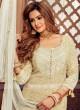 Wonderful Skin & Cream Color Gharara Suit