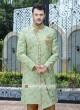 Stylish Indo Western in Pista Green